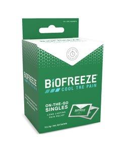 Biofreeze On-The-Go Singles 10 x 5g / 5ml Gel Sachets