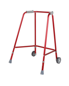 Days Red Adjustable Height Wheeled Walking Frames