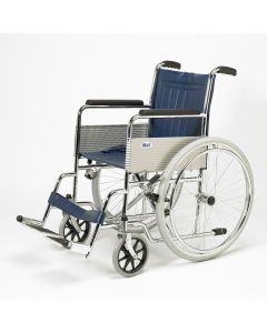 Days Fixed Arm and Leg Rest Self Propelled Wheelchair facing left