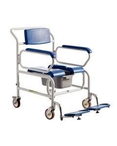 Bariatric Attendant Wheeled Shower Commode Chair