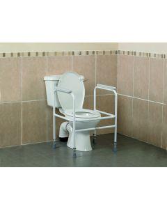 Homecraft Adjustable Steel Toilet Surround Without floor fixing feet