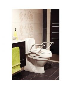 Etac Cloo Height Adjustable Raised Toilet Seat with Armrests