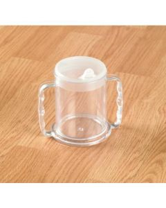 Homecraft Wide Base Mug, with Transparent Lid