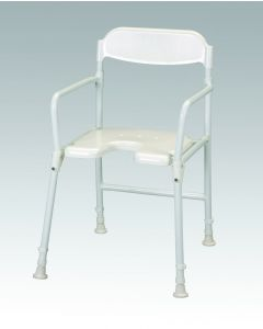 Days White Line Folding Shower Chair