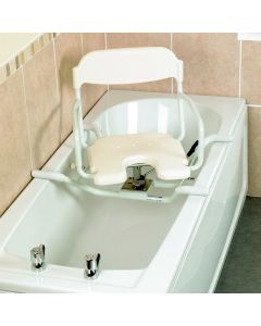 Days White Line Swivelling Bath Seat