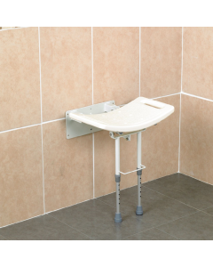 Days Wall Mounted Shower Seat with Legs