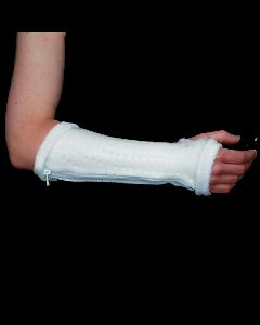 Rolyan AquaForm Zippered Wrist Splint - White