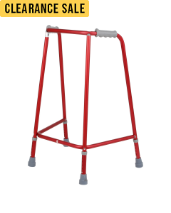 Days Red Adjustable Height Walking Frames - Front