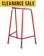 Days Red Adjustable Height Walking Frames - Front