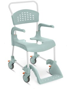 Etac Clean Wheeled Shower Commode Chair & Accessories