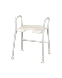 Days White Line Shower Stool with Arms