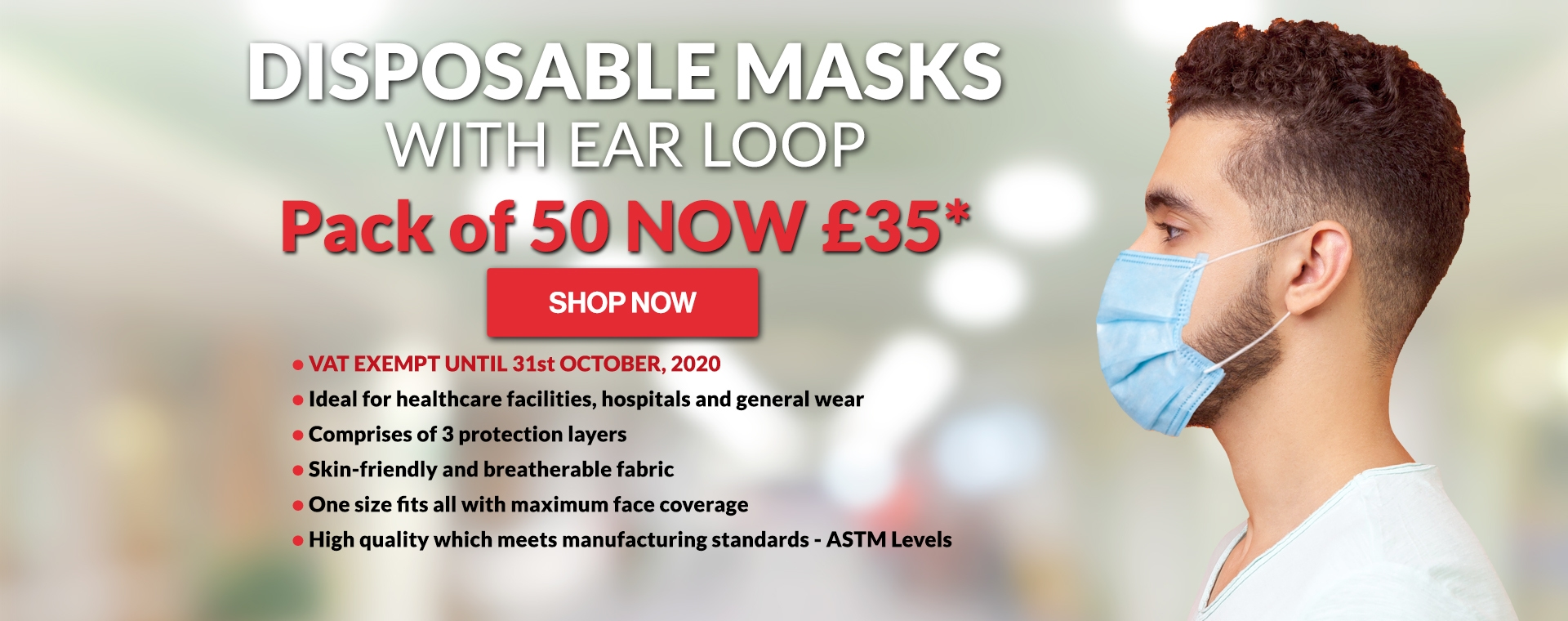 Disposable Mask with Ear Loop