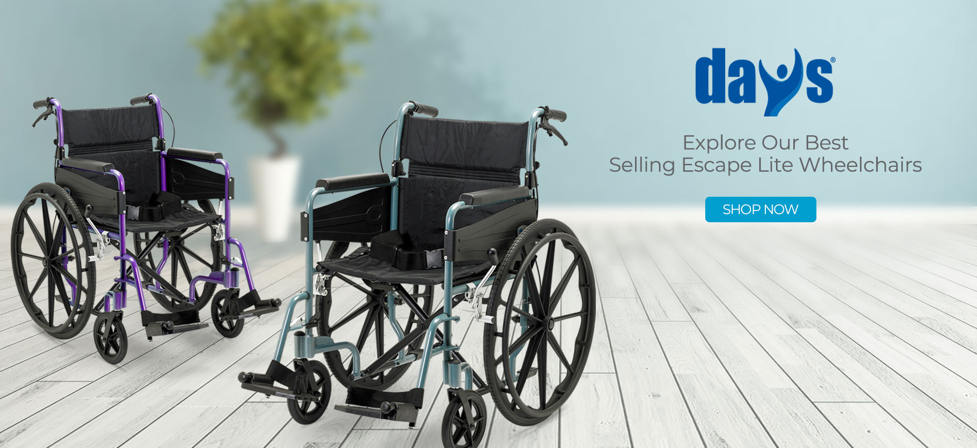 Days Escape Range and Wheelchair Accessories